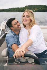 bryan jacklyn couple engagement session boat casual jeans style love montreal cottage esterel saint sauveur romantic